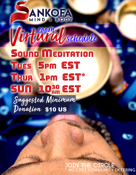 Weekly Virtual Sound Bath Schedule